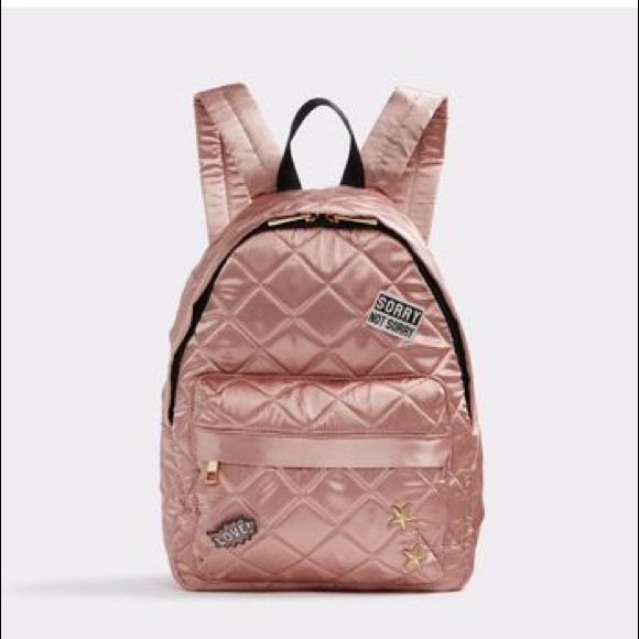 b27488d68cb Aldo Pink Abadowet Mini Backpack w  Pins